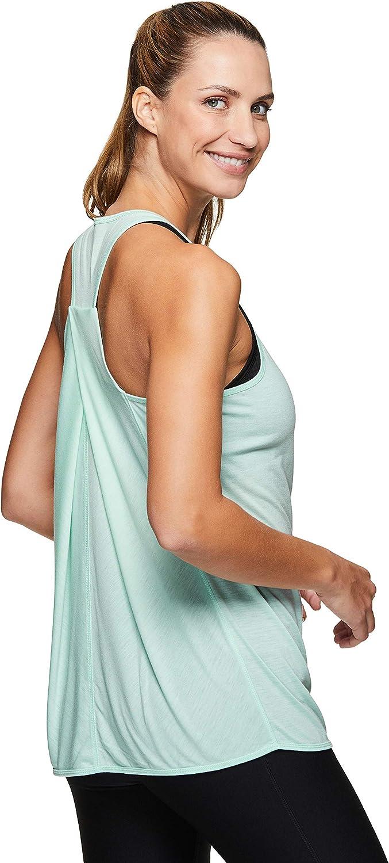 RBX Active Womens Fashion Back Detail Flowy Yoga Tank Top