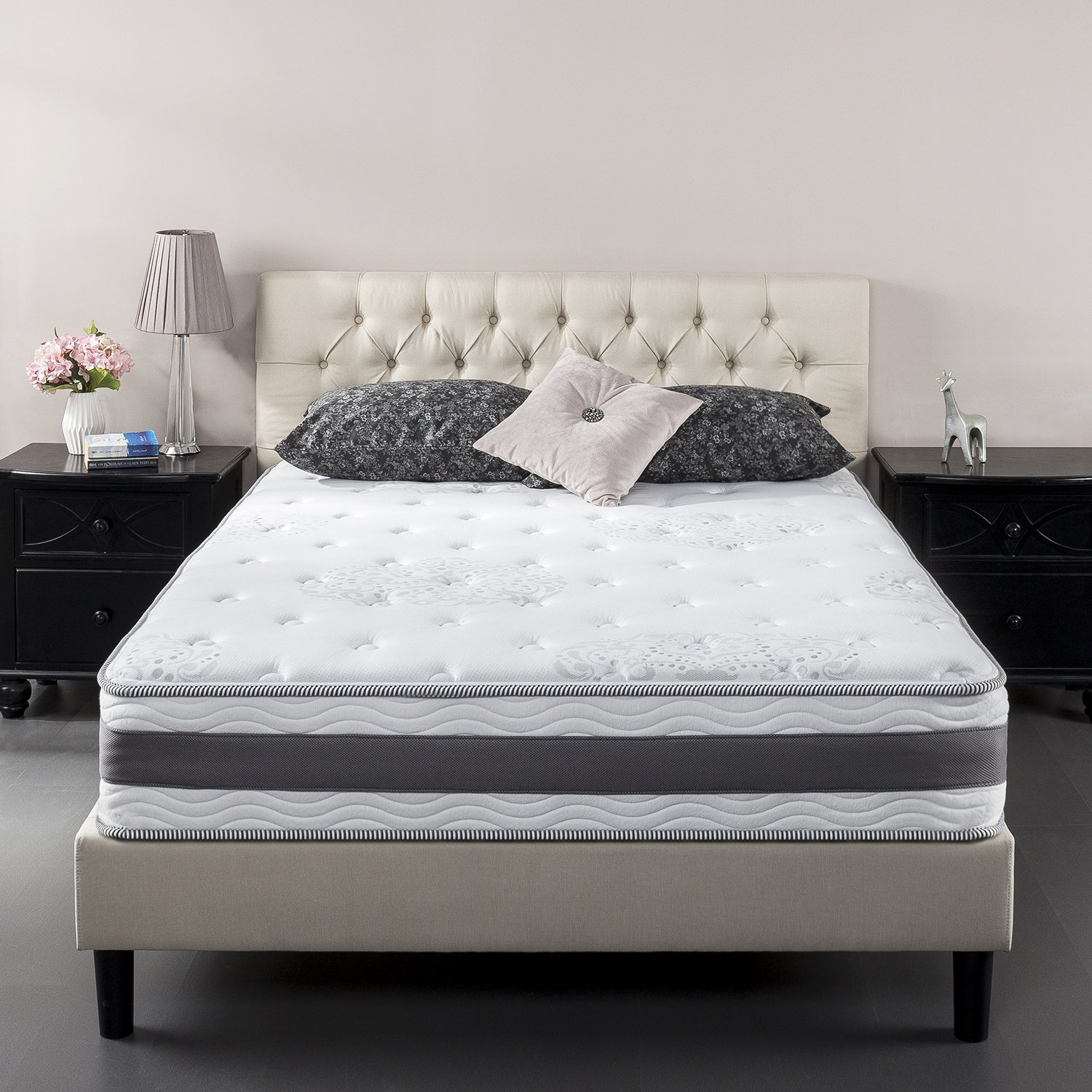 Zinus 10 Inch Gel-Infused Memory Foam Hybrid Mattress, Full