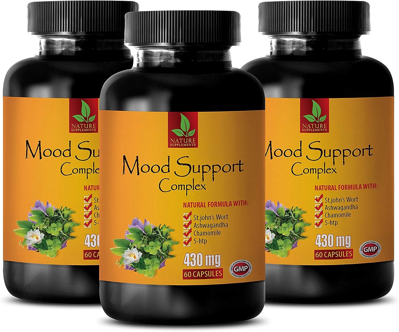 Mood Enhancing Vitamins - Mood Support Complex - Natural Formula - folic Acid and b Complex - 3 Bottles 180 Vegetable Capsules