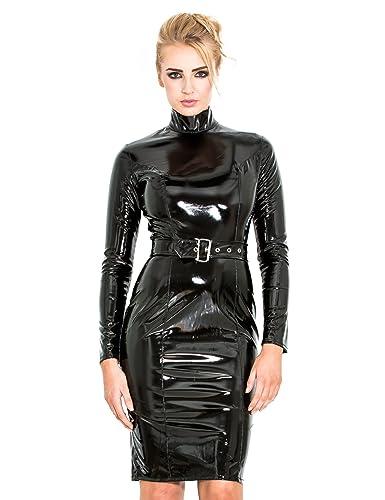 Honour Women's PVC Regulation Dress, long sleeved, with high collar.