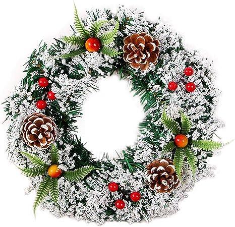 Ghirlande Di Natale.Corona Di Ghirlande Di Natale Corona Di Ghirlande Natalizie Fatte A Mano Amazon It Casa E Cucina