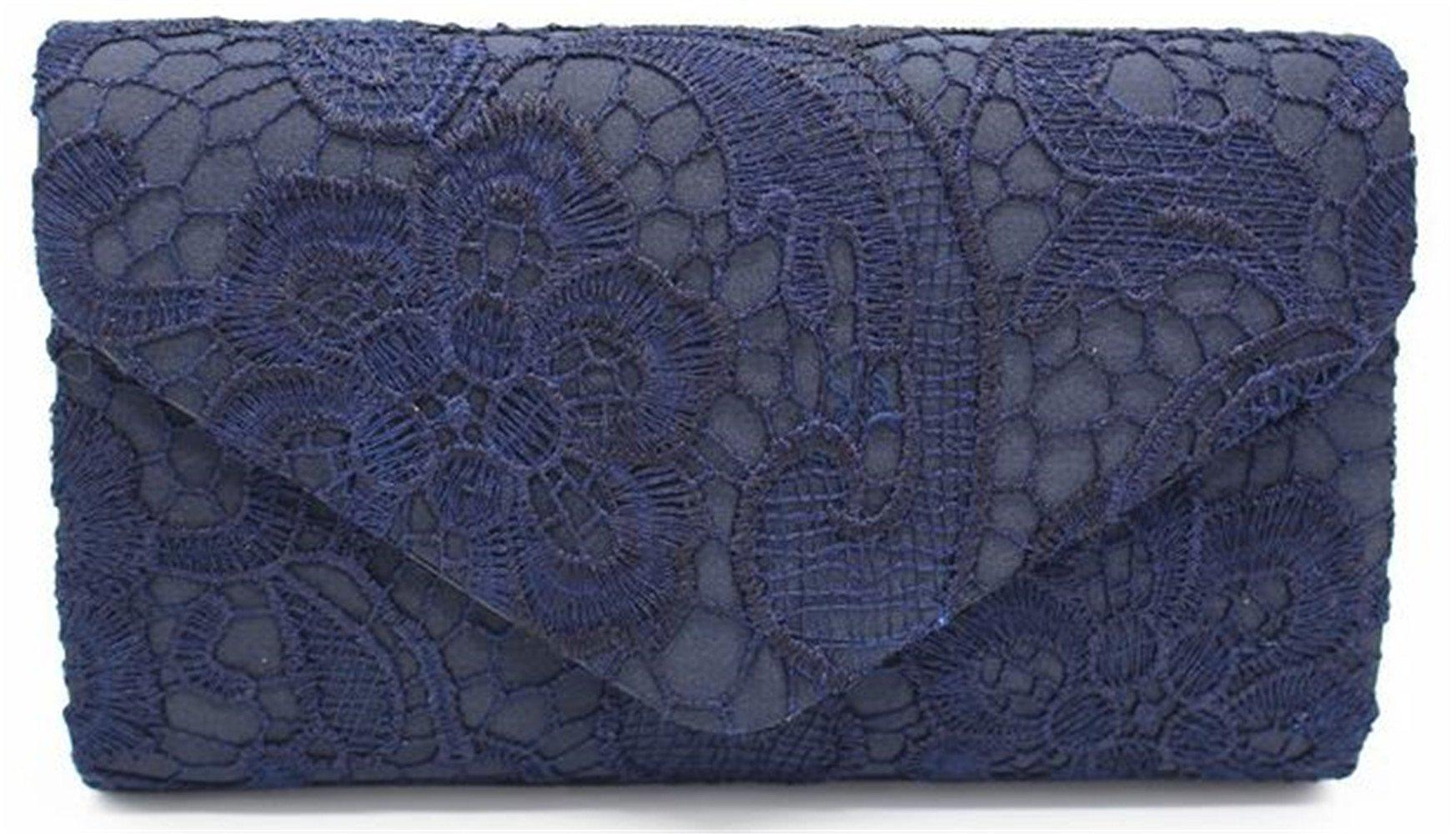 Nodykka Wedding Pleated Floral Lace Clutches Bag Evening Cross Body Handbags Purse by Nodykka (Image #1)