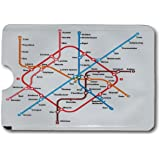 Minder® Designer Card Minder RFID Blocking Anti Theft Secure Protector Sleeve Holder Wallet for Credit/Debit/ID/Oyster Cards - Prevent Fraud, Theft, Card Clash ~ As Seen On BBC (Underground Map)