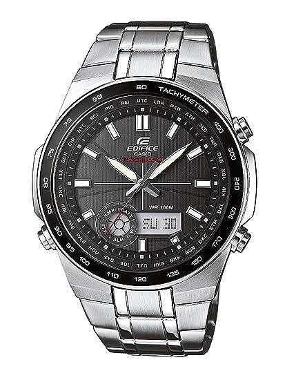 Casio EDIFICE - Reloj analógico - digital de caballero de cuarzo con correa de acero inoxidable