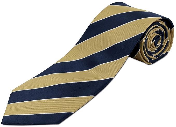 Corbata de seda 100% extra larga, ancha, a rayas, para hombres ...