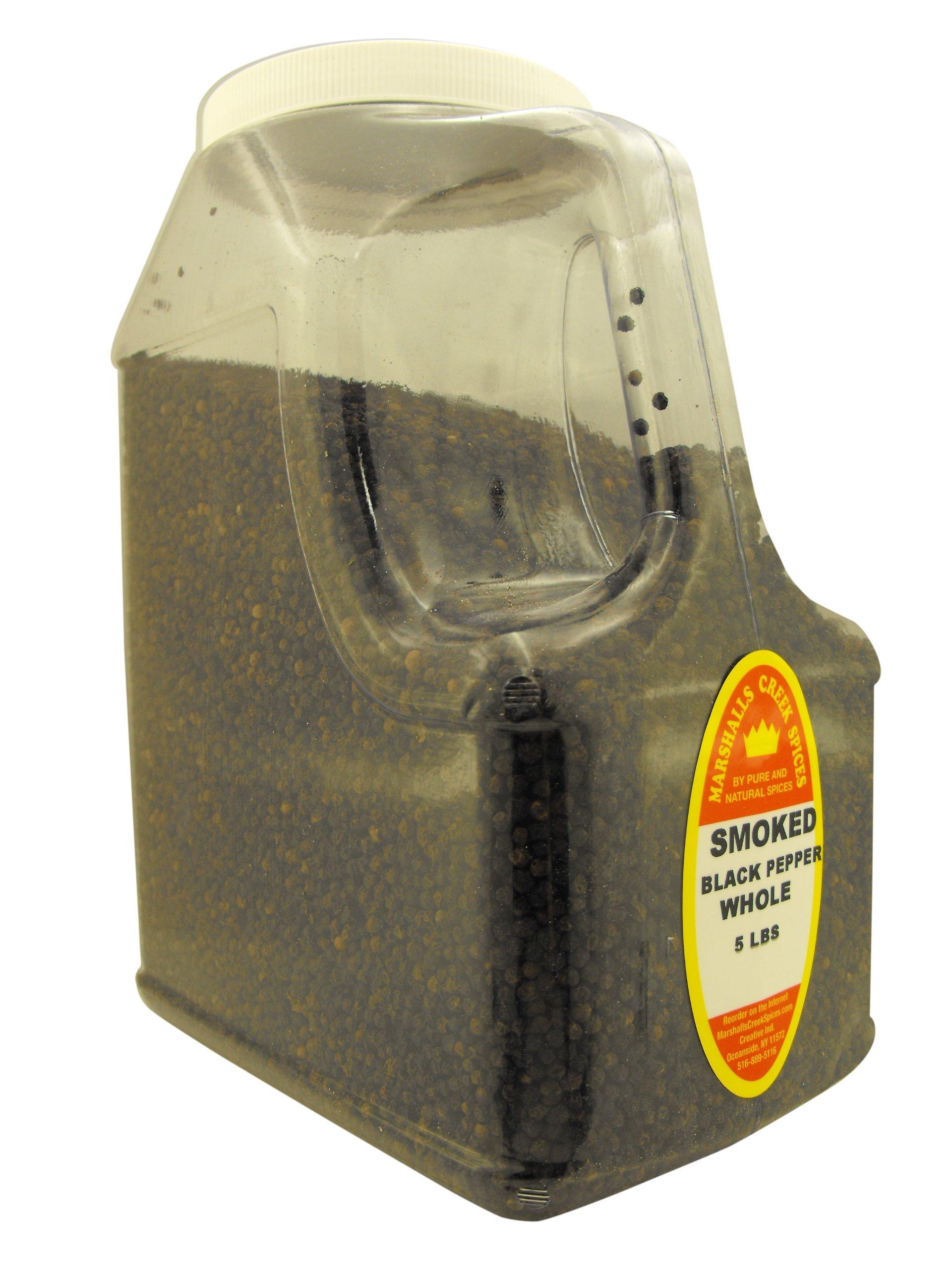 SMOKED BLACK PEPPER WHOLE 5 LB. RESTAURANT SIZE JUG