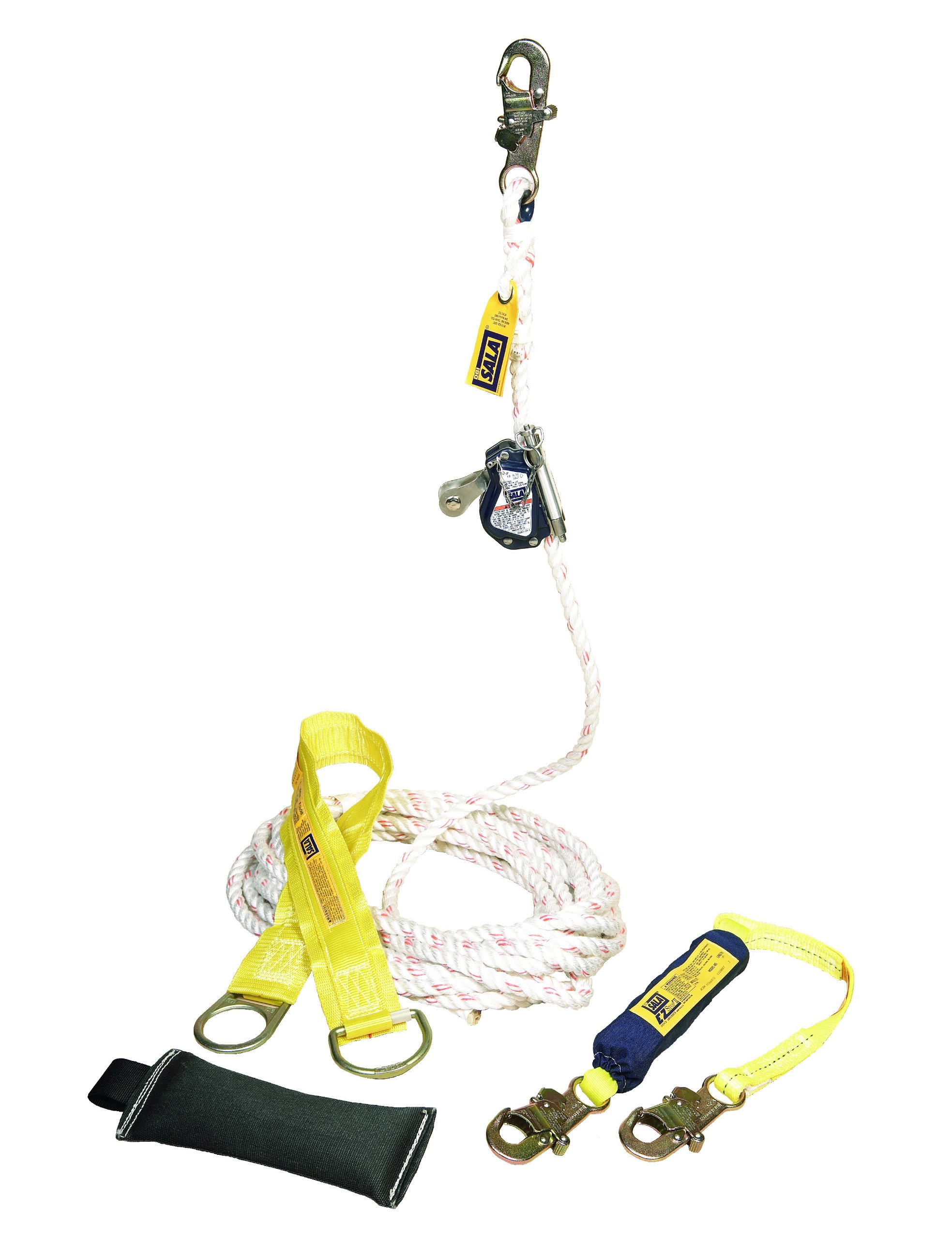 3M DBI-SALA Lad-Saf 5000400 Mobile Rope Grab Kit, Rope Grab, 3' Shock Absorbing Lanyard, 50' Rope Lifeline, Counterweight, Tie-Off Adaptor, and Carrying Bag by 3M Fall Protection Business (Image #1)