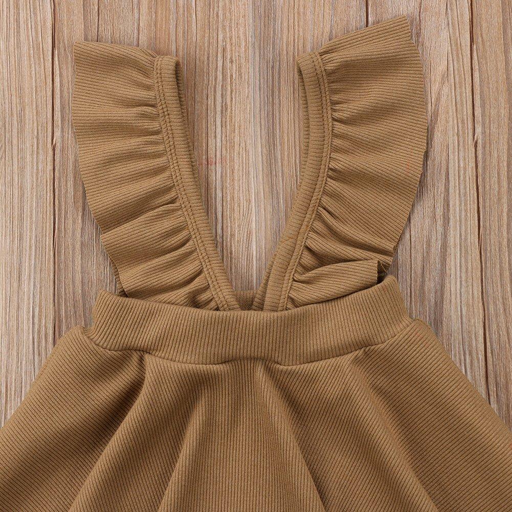 XARAZA Toddler Baby Girls Strap Suspender Skirt Overalls Dress Outfit