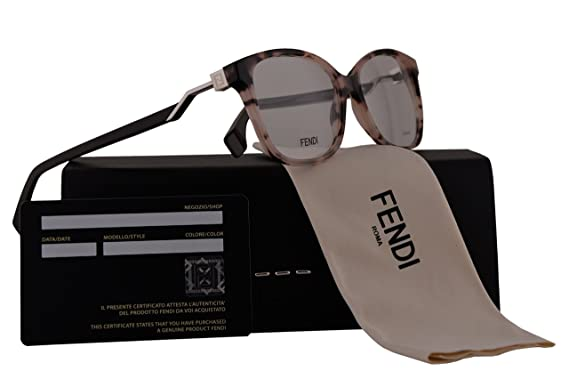69b6ec46b42 Amazon.com  Fendi FF0232 Eyeglasses 53-15-140 Rose Havana w Demo ...