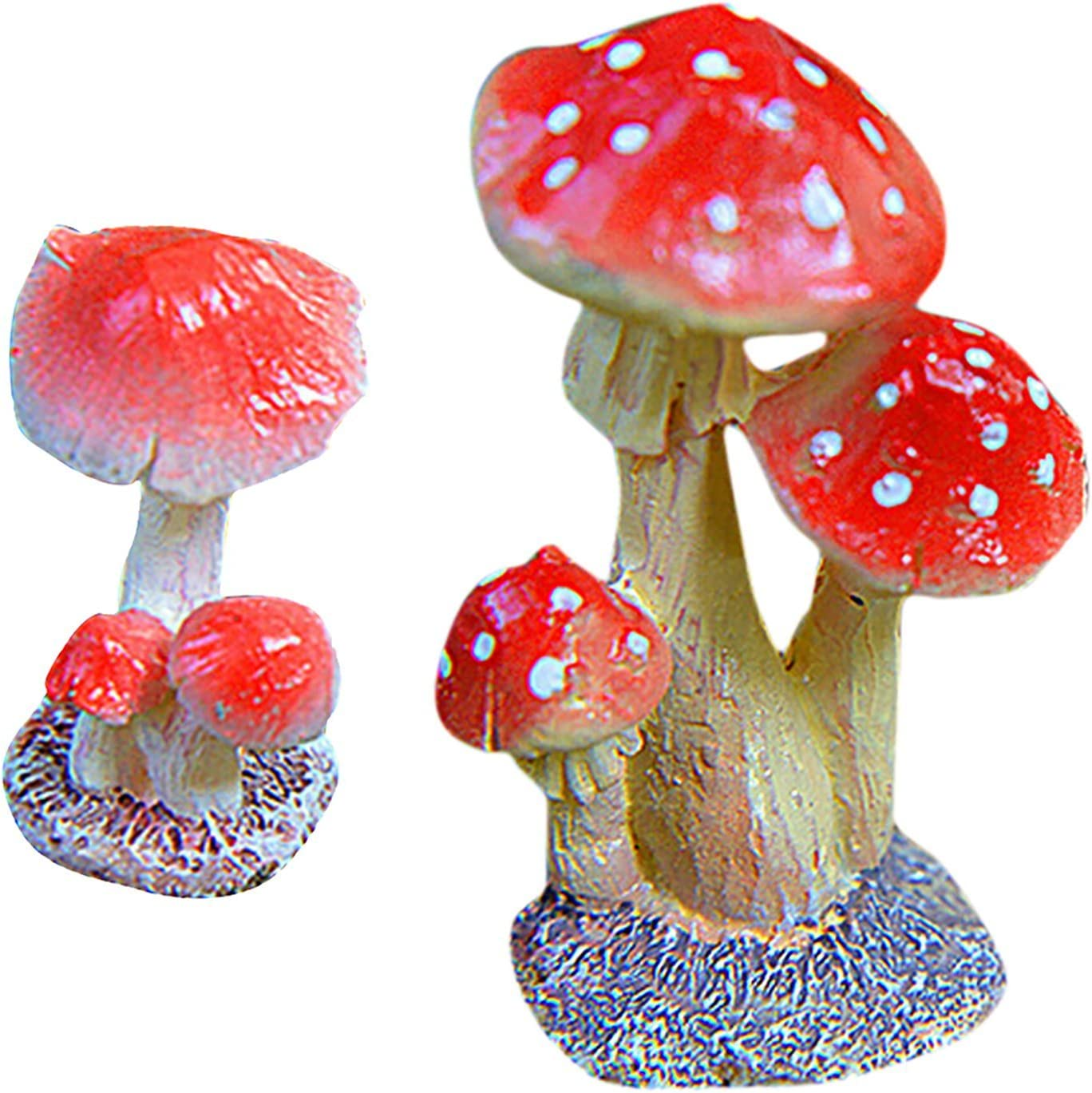 3 Size Mushroom Miniature Garden Ornament DIY Craft Pot Fairy Dollhouse DecorFJJ