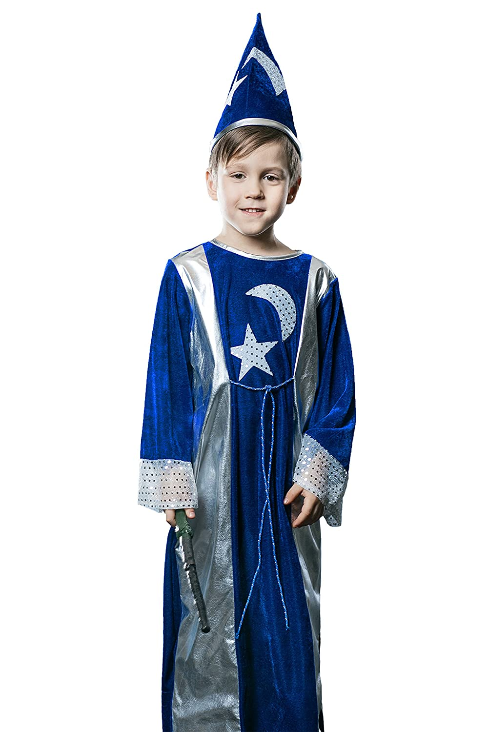 Amazon.com: Kids Unisex Magician Halloween Costume Wizard ...