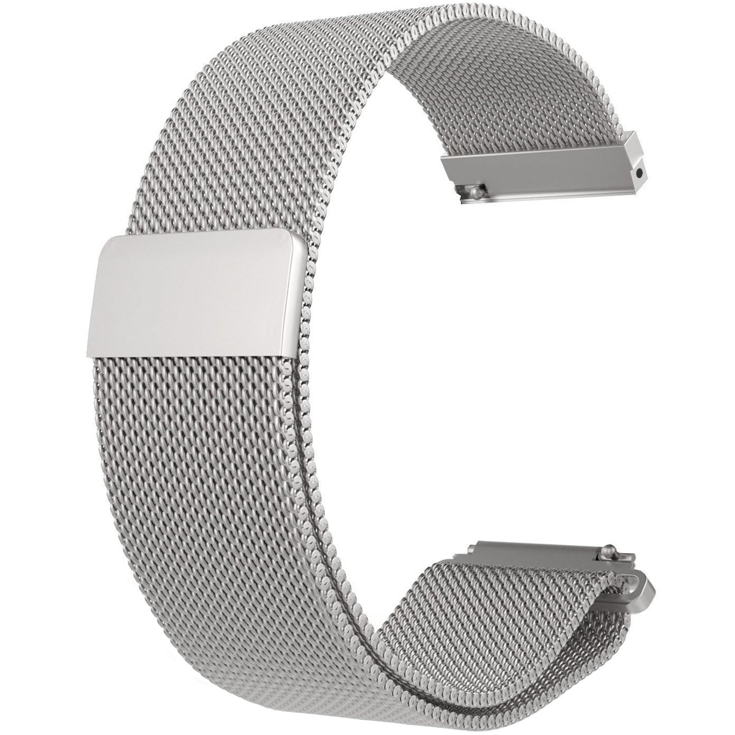 RuenTech Replacement for ZTE Quartz Watch Band 22mm Metal Milanese LOOP Bands for ZTE Quartz Smartwatch (Silver)