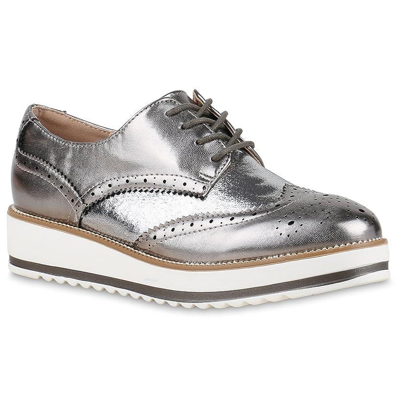 Stiefelparadies - Zapatillas Mujer, Color Blanco, Talla 39 EU