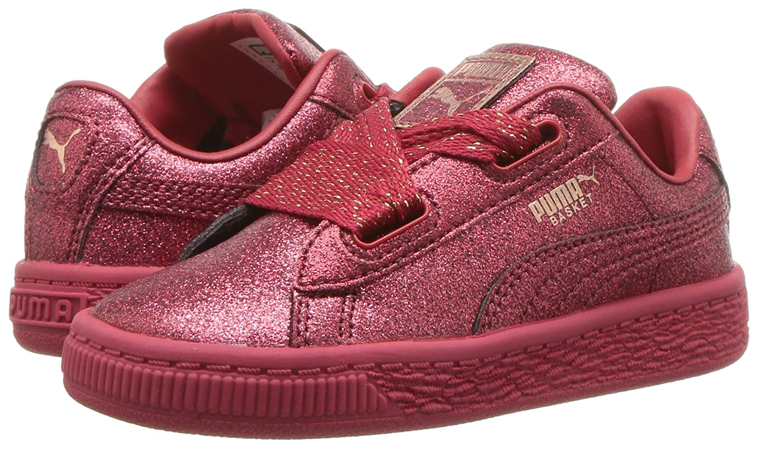 hot sales 59fc1 87dc2 Puma Basket Heart Patent Kids Sneaker: Buy Online at Low ...