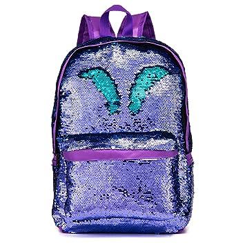 a9a8d4324c5c BRANDX Girls Oxford Fabric Reversible Magic Sequins Book Bag ...