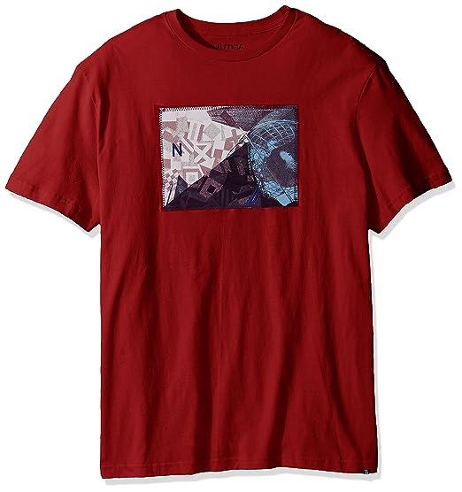 ec841143 Nautica Big and Tall Men's Short Sleeve Graphic T-Shirt, Red, 1X ...