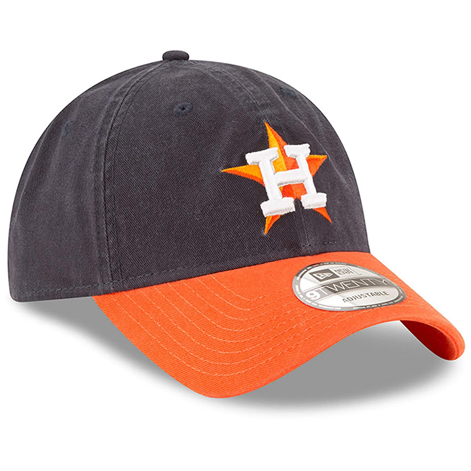 Houston Astros New Era Road Replica Core Classic 9Twenty Verstellbar Hat Navy//Orange