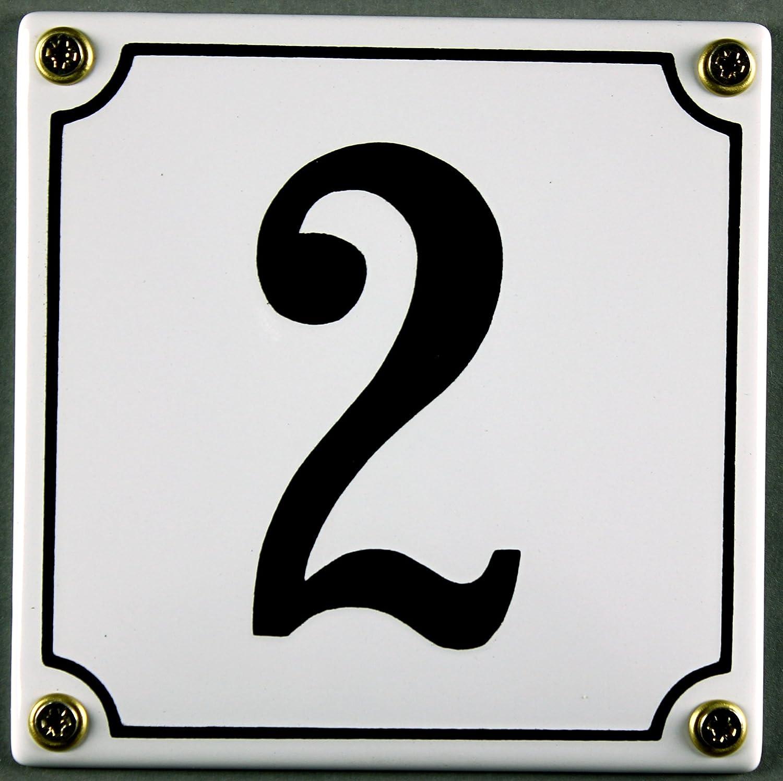 Emaille Hausnummernschild sofort lieferbar wei/ß//schwarz 12x12 cm und 12x14cm 1 wei/ß//schwarz 12x12cm Zahlen 1 bis 30 verf/ügbar Hausnummer Schild wetterfest und lichtecht W/ählen Sie Ihre Nummer