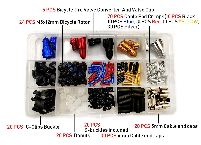 Bicycle Bike Wires Brake Cable Ends Caps Crimps 10pcs Black
