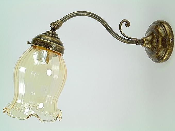 Applique in ottone brunito appliques stile liberty con vetro colore