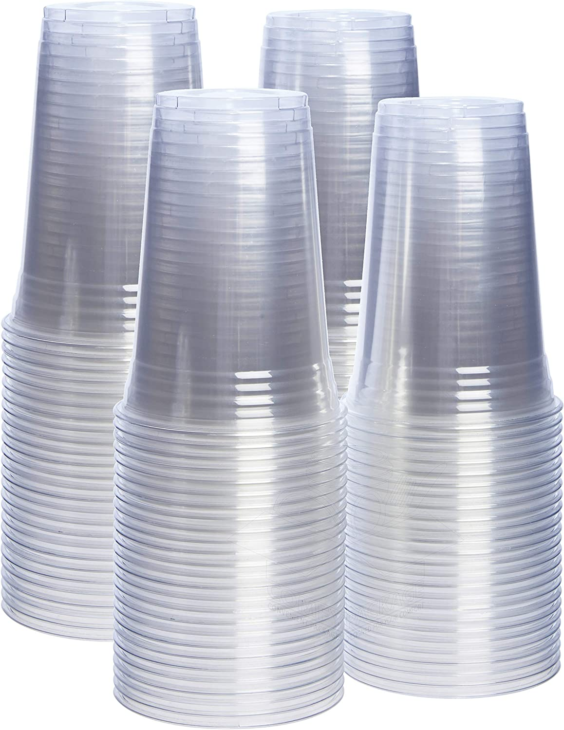 [100 Pack - 20 oz.] Crystal Clear PET Plastic Cups