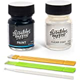 ScratchesHappen Exact-Match Touch Up Paint Kit Compatible with Scion/Toyota Super White II/Glacier White (040) – Bottle, Esse