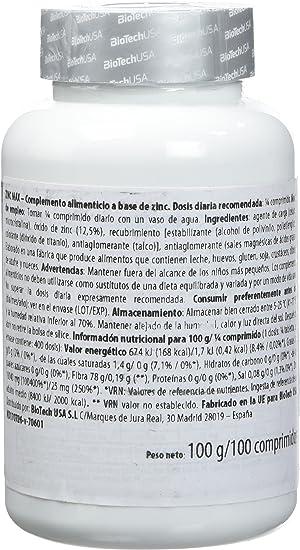 Biotech USA 19046010000 - Zinc Max suplemento alimentarios, 70 gr