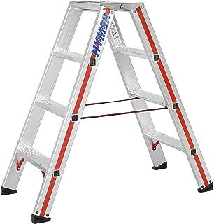 Unterschiedlich Hymer 402408 Stufenstehleiter SC 40 2 x 4 Stufen Aluminium: Amazon  GW91