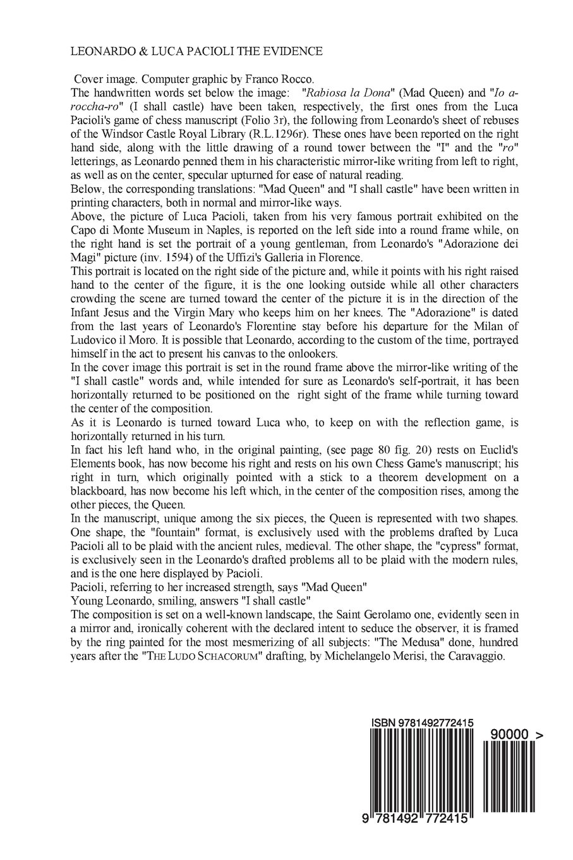 Leonardo & Luca Pacioli the Evidence