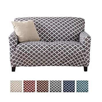 Prime Home Fashion Designs Printed Twill Love Seat Slipcover One Piece Stretch Loveseat Cover Strapless Love Seat Cover For Living Room Brenna Collection Squirreltailoven Fun Painted Chair Ideas Images Squirreltailovenorg
