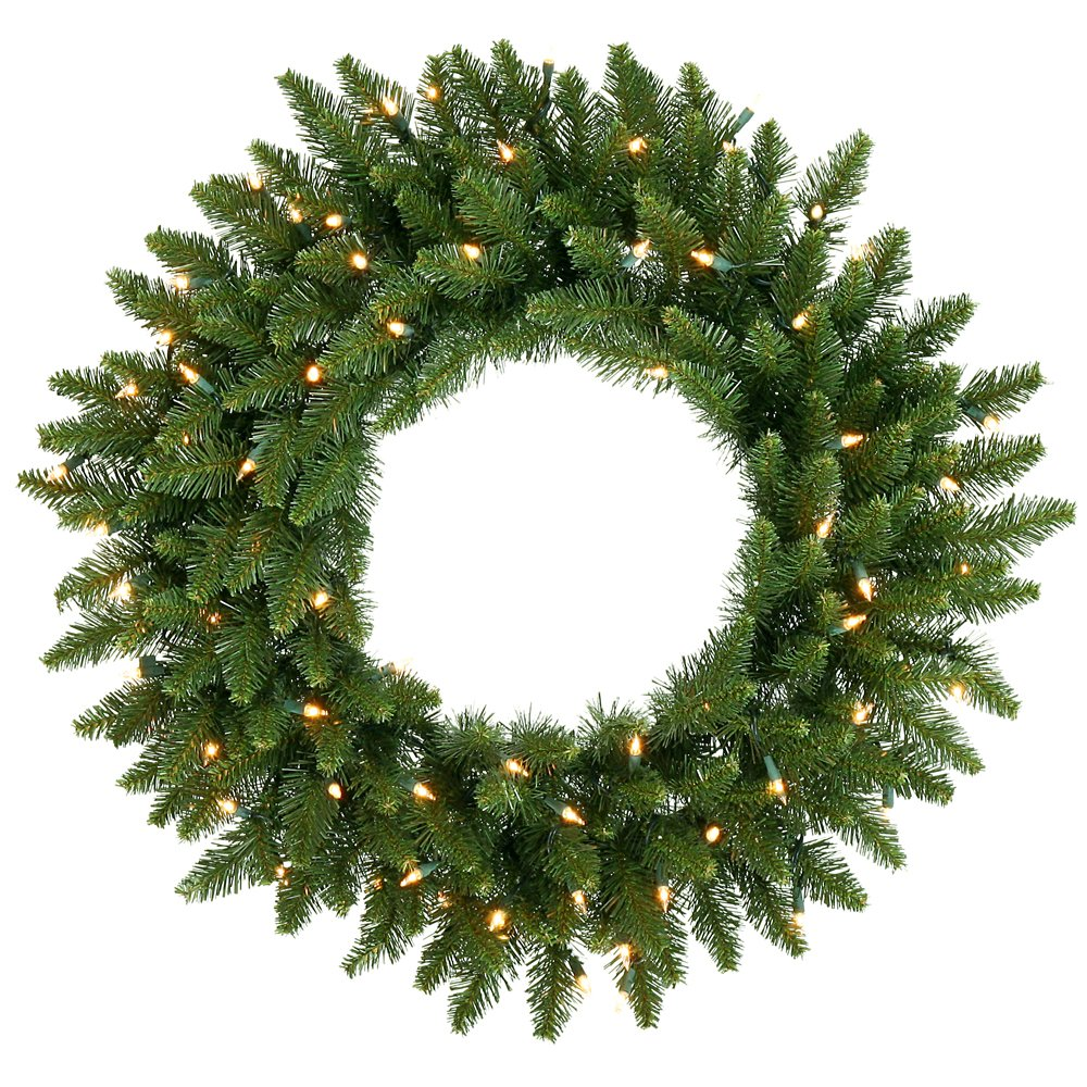 Vickerman Multi-colored LED Lights Frosted Bellevue Alpine Artificial Christmas Wreath, 30-Inch