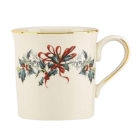 Amazon lenox winter greetings mug ivory coffee cups mugs lenox winter greetings mugivory m4hsunfo