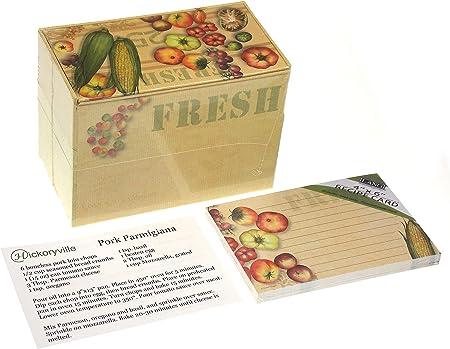 Lang Fresh From The Farm Caja de recetas con tarjetas de recetas extras, obra de arte de Susan Winget (2 recetas de bonificación incluidas de Hickoryville): Amazon.es: Hogar