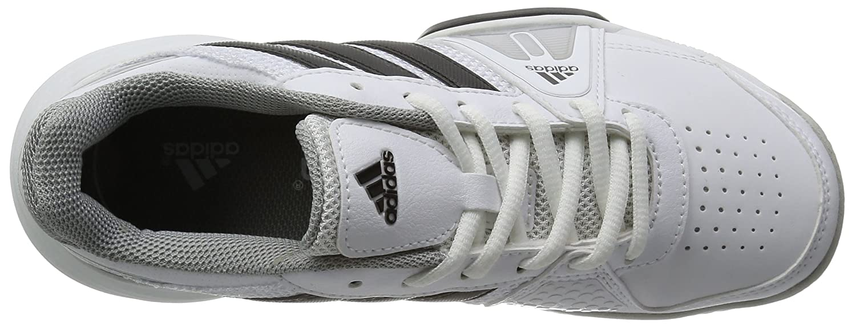adidas Barricade Team 3 Scarpa da Tennis Junior, Bianco