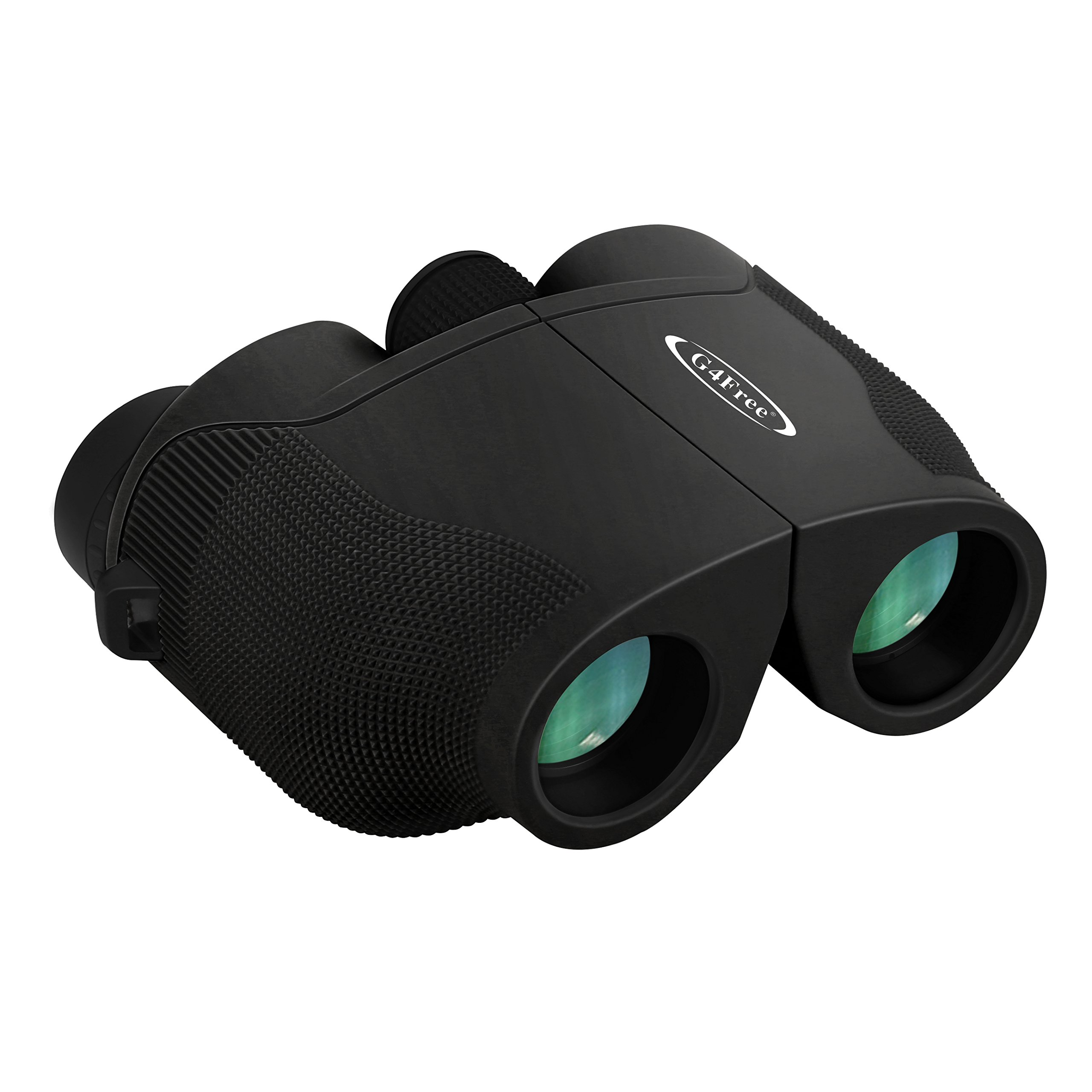 G4Free 10x25 Wide Angle Binoculars Compact BAK4 Weak Light Night Vision Binocular High Powered with Clear Vision Great for Bird Watching Outdoor Sports Games and Hunting(Black) by G4Free