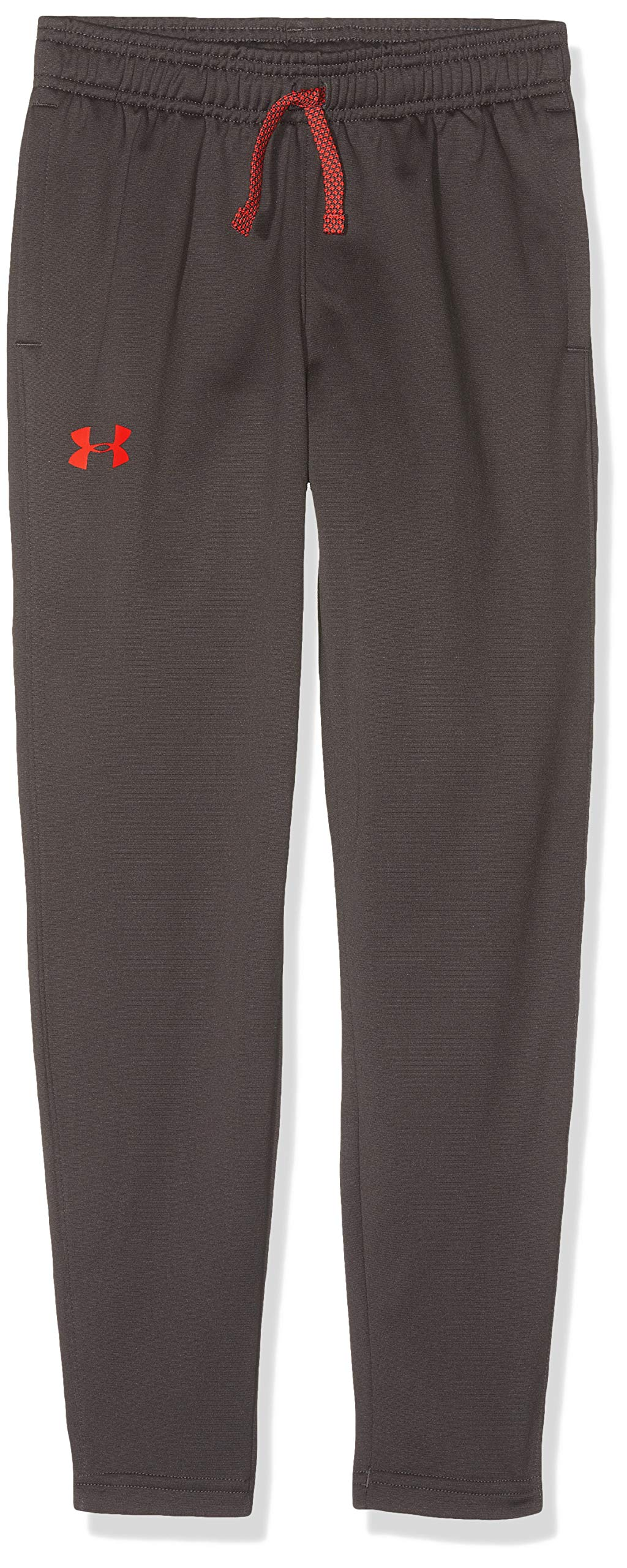 Under Armour Kids Boy's Brawler Tapered Pants (Big Kids) Charcoal/Radio Red Small by Under Armour