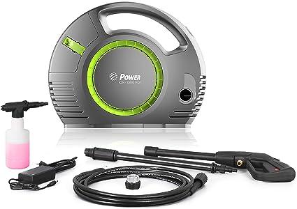 Amazon.com: Lavadora a presión de potencia 1300 PSI batería ...