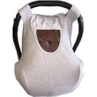 Funda para porta bebe y cubre lactancia gris claro liso