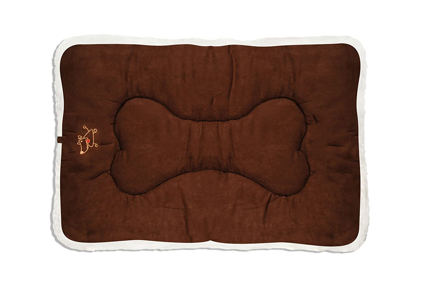 Dark Brown X-Small Dark Brown X-Small Best Pet Supplies Double-Sided Crate Mat, X-Small, Dark Brown Suede