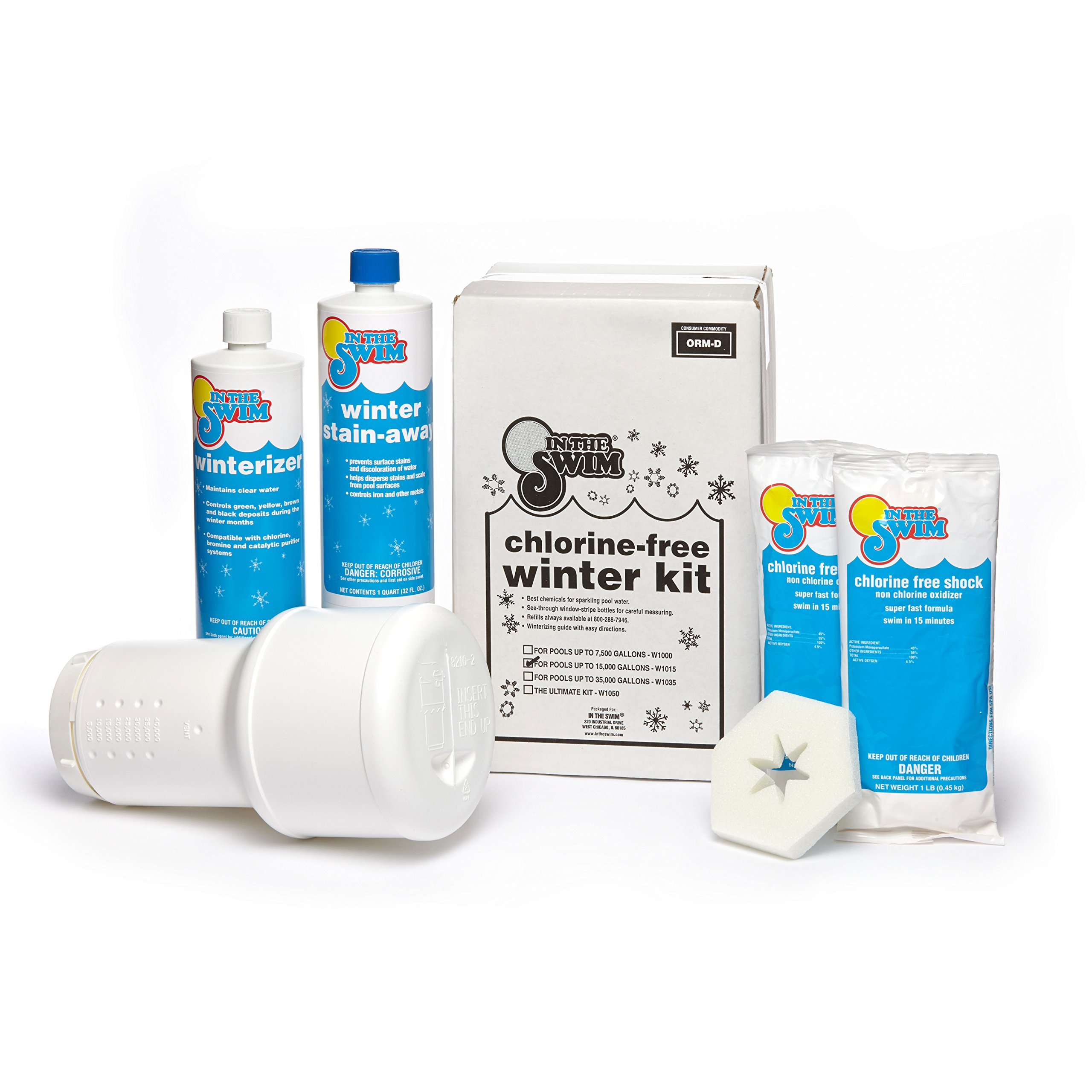 In The Swim Pool Winterizing Closing Chemical Kit - Up to 15,000 Gallons