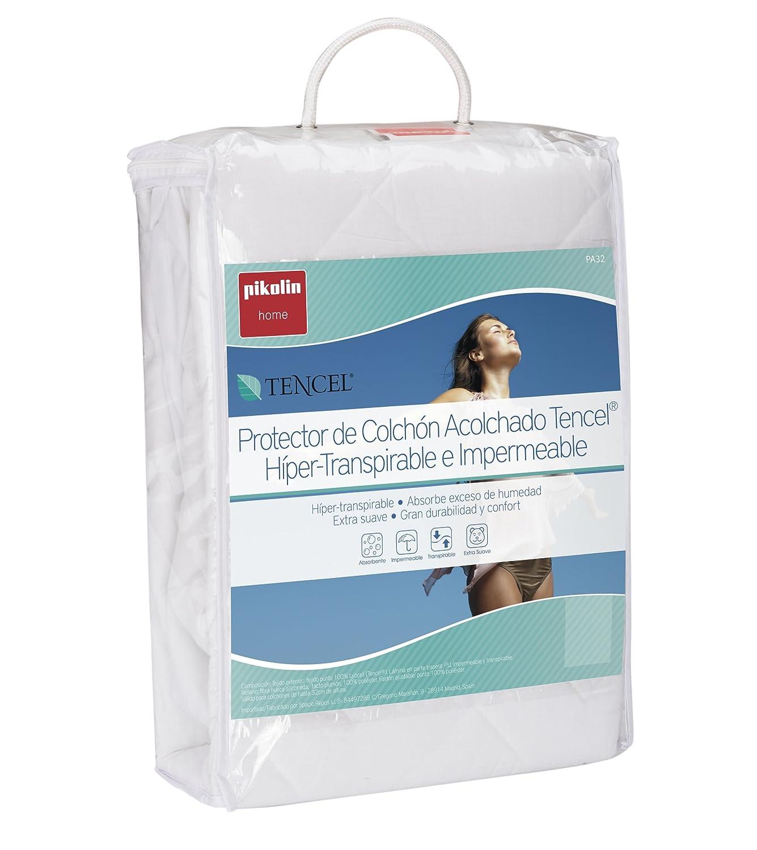 Pikolin Home - Protector de colchón acolchado cubre colchón lyocell, híper-transpirable e impermeable, 135 x 190/200 cm, cama 135 (Todas las medidas): ...