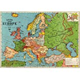 Cavallini & Co. Europe Map Decorative Decoupage Poster Wrapping Paper Sheet