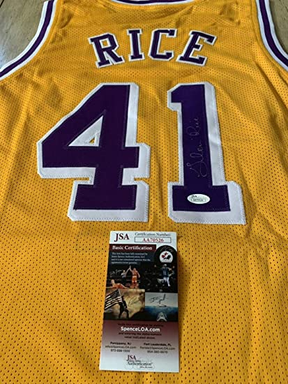 ed208e31041 Glen Rice Autographed Signed Memorabilia Jersey JSA Coa Los Angeles Lakers  La