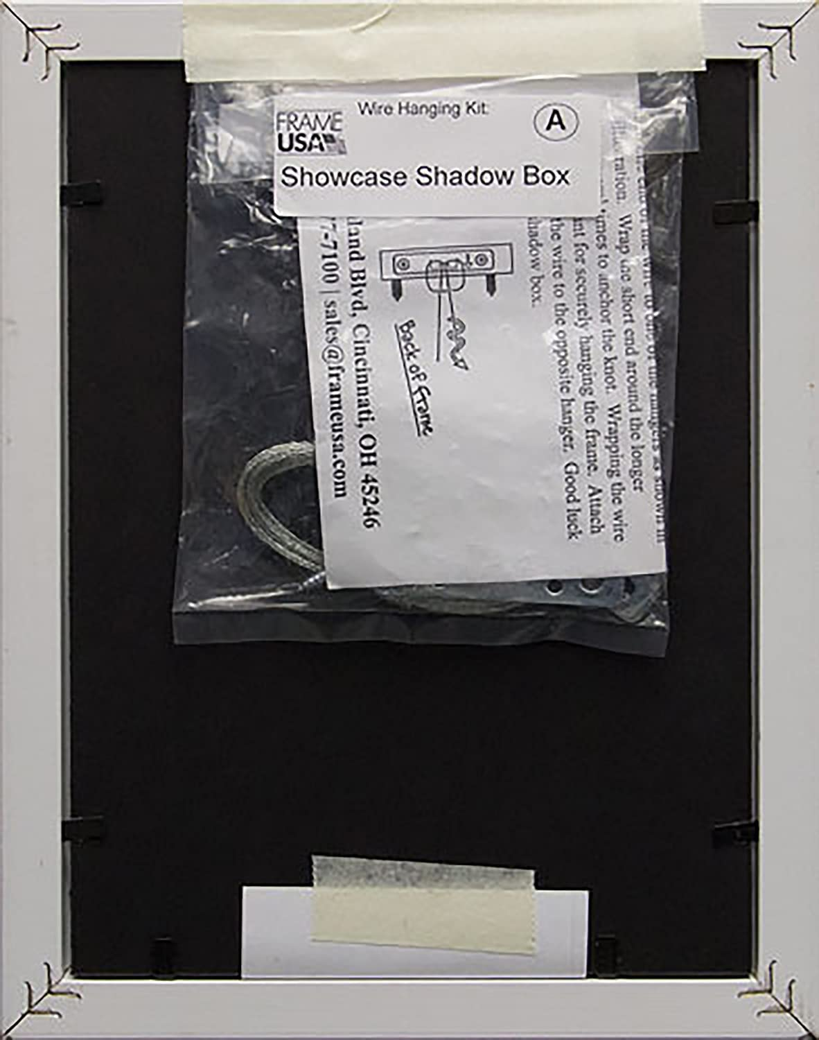 Amazoncom 5x7 Shadow Box Wood Frame 2 18 Deep White