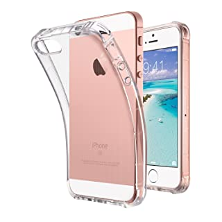 ULAK iPhone SE Case Clear (2016 Edition), iPhone 5s case, iPhone 5 case, Clear Slim Fit 5/5S/SE Case with Transparent Flexible Soft TPU Bumper Shock-Absorption Cover -Retail Packaging - HD Clear