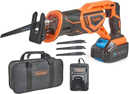VonHaus 20V MAX Lithium-Ion Cordless Reciprocating Saw Kit