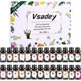 Essential Oils Set, VSADEY Aromatherapy Essential Oil Kit for Diffuser, Humidifier, Massage, Skin Care - Lavender, Eucalyptus