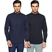 Amazon Brand - Symbol Men's Plain Casual Shirt