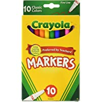 2-Pack Crayola 58-7726 Classic Fine Line Markers 10 Count (Assorted Colors)