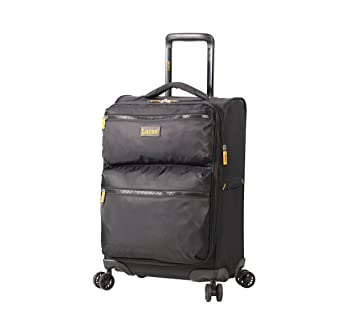 ac8a9bc21872 Lucas Ultra Lightweight Carry On Softside 20 inch Expandable Luggage With  Spinner Wheels (20in, Black)